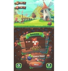 feed fox gui match 3 buy window vector image
