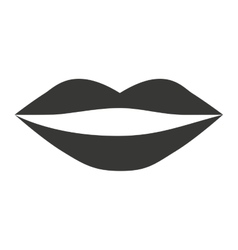 female lips isolated icon design vector image