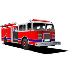fire engine ladder isolated on background vector image