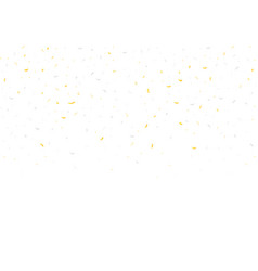 golden and silver confetti vector image