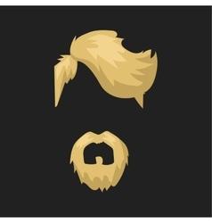 Hairstyle beard and hair face cut mask flat vector