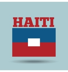 Haiti country flag vector