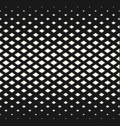 halftone geometric pattern with rhombuses diamond vector image