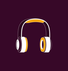 headphones flat style vector image