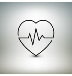 Heart beat icon healthcare and medical vector image