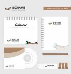 hot dog logo calendar template cd cover diary and vector image
