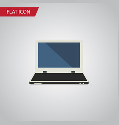 isolated laptop flat icon notebook element vector image