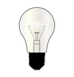 Isolated light bulb vector