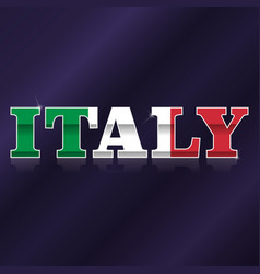 italy flag symbol vector image