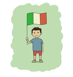 Italy flag vector image vector image
