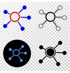 links eps icon with contour version vector image