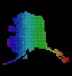 Luminous pixel alaska map vector