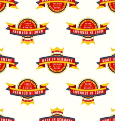 Made in germany banner seamless pattern vector