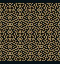 Modern geometric tiles pattern golden lined vector