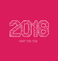 New years 2018 polygonal line background vector
