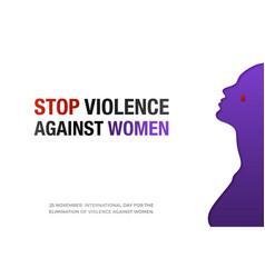 november 25 stop violence against women creative vector image