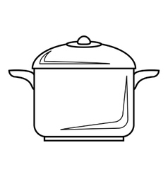 Pan for cooking icon outline style vector
