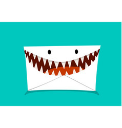 phishing mail in monster style vector image