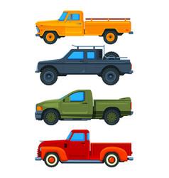 Pickup trucks various of vector
