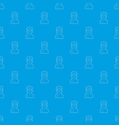 policeman pattern seamless blue vector image
