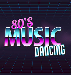 Poster in style 80 s vector