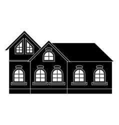 Private cottage black icon vector