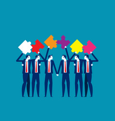 Puzzle and teamwork concept business vector