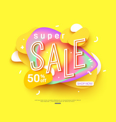 sale banner template design big sale for online vector image