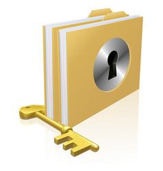 Secure file folder vector