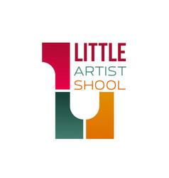 Sign for children art school vector