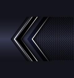 Silver black arrow direction with dark grey vector