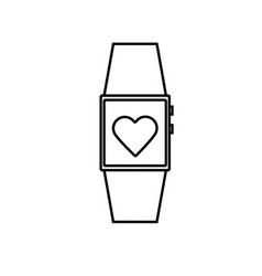 smartwatch icon vector image