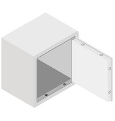 steel money bank safe vector image