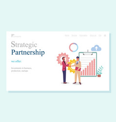Strategic partnership investments in business vector
