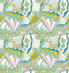 Traditional ornamental pattern Hand drawn colorful vector image