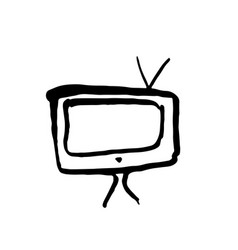 tv grunge icon vector image