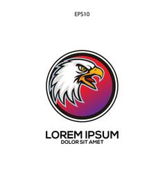 unique logo eagle head vector image
