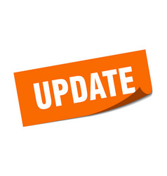 Update sticker update square isolated sign update vector