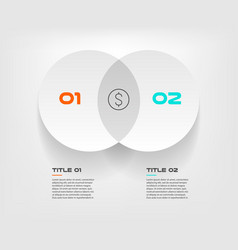 Venn diagram infographics for two circle design vector