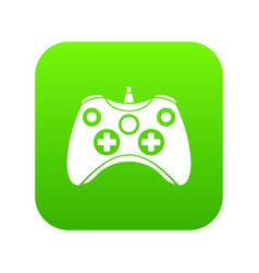 video game controller icon digital green vector image