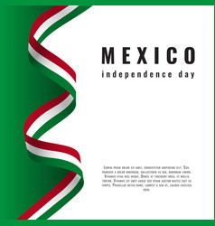 Viva mexico background with ribbon independence vector