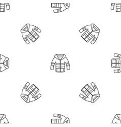 winter jacket pattern seamless vector image