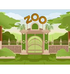 Zoo gate vector image