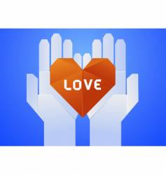 give your love vector image