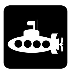Submarine button vector image vector image
