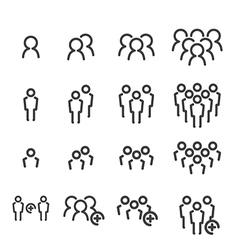 team line icon set vector image vector image
