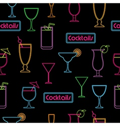 cocktail pattern vector image vector image
