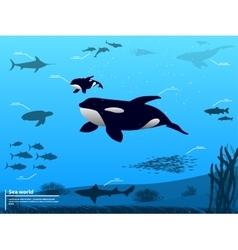 Infographics ocean sea underwater world vector image