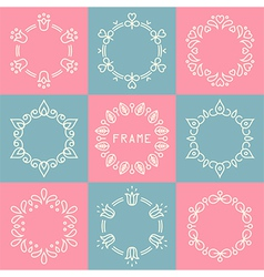 Line frames set vector