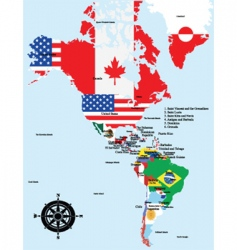 map of america vector image vector image